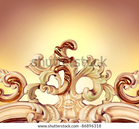 Carved Furniture. Luxury Interior detail - stock photo