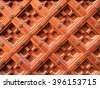 Carved pattern on wood, element of decor.       - stock photo