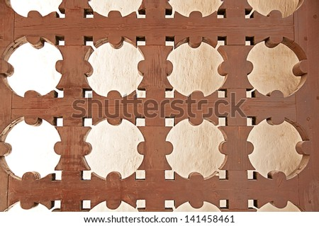 carved wooden geometric background