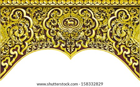 Carved wooden in Thailand temple. - stock photo