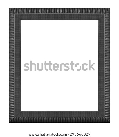 Carved wooden Picture frame isolated on white background.