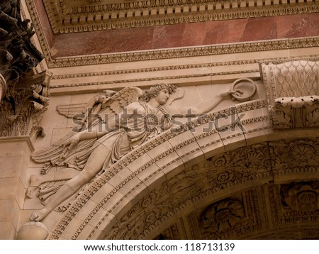 Carving on the Arc of Triumph in Paris France