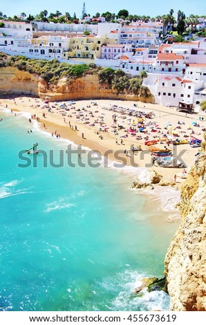 Carvoeiro beach  in Portugal