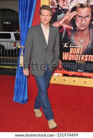 """Cary Elwes at the world premiere of """"The Incredible Burt Wonderstone"""" at the Chinese Theatre, Hollywood. March 11, 2013  Los Angeles, CA Picture: Paul Smith - stock photo"""