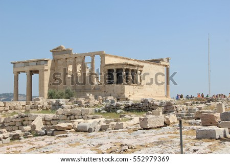 Caryatid Porch of the Erechtheion, Athens Greece