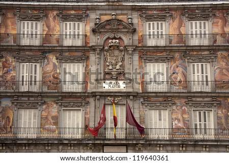 Casa de la Panaderia, Plaza Mayor, Madrid, Spain - stock photo