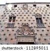 Casa de las Conchas in Salamanca - stock photo