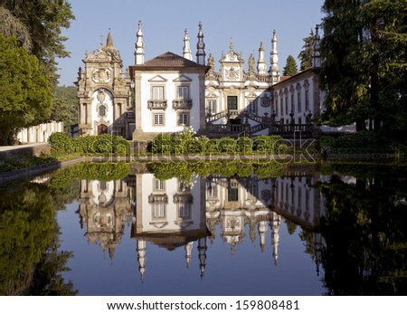 Casa de Mateus is masterpiece of Portuguese Baroque architecture  - stock photo