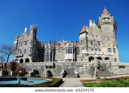 Casa Loma Castle in Toronto, Canada - stock photo