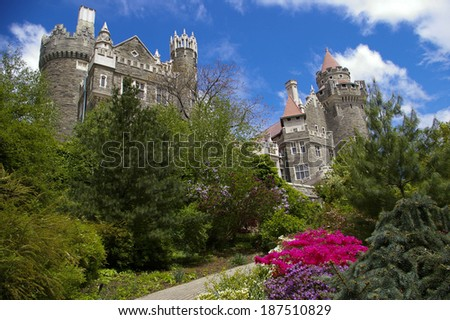 Casa Loma in Toronto, Ontario, Canada - stock photo