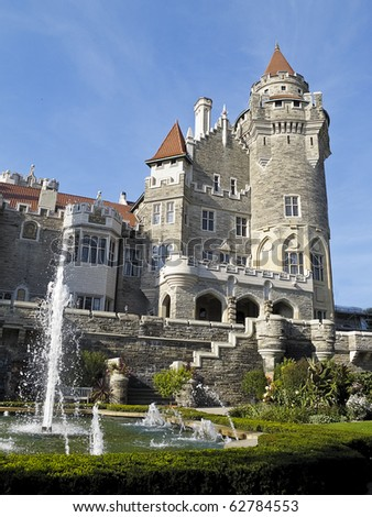 Casa Loma, Toronto's castle built by Sir Henry Pellatt in the early 1900s - stock photo