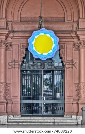 Casa Rosada building main entrance located at Mayo square. - stock photo