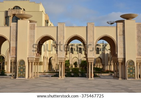 Casablanca, Morocco - April 22, 2013: Hassan 2 Mosque one of the biggest mosque in the world