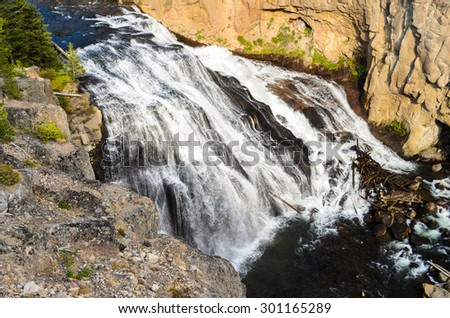 Cascade at Yellowstone National Park - stock photo