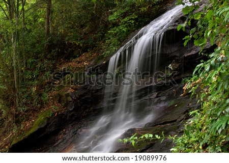 Cascade Falls, Blue Ridge Parkway, North Carolina - stock photo