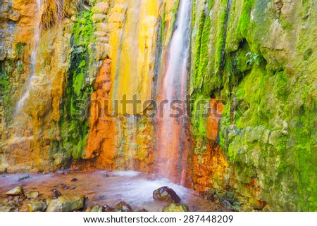 Cascade of Colors, Caldera de Taburiente, La Palma (Spain) - stock photo
