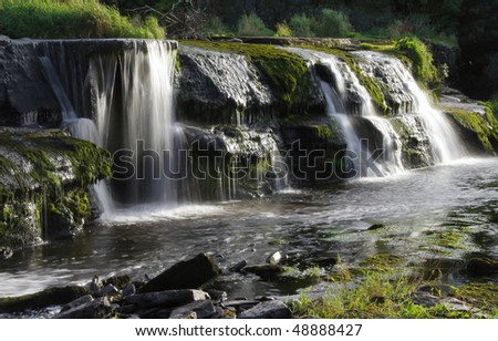 Cascades in Ennistymon - Ireland at summer