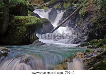 Cascading Stream - stock photo