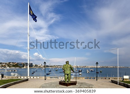 CASCAIS, PORTUGAL - SEPTEMBER 30, 2015: King Charles I of Portugal looking at the Bay of Cascais, on September 30, 2015, in Cascais, Portugal