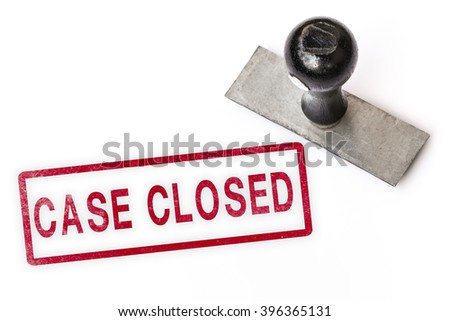 case closed text sign label stamp. - stock photo