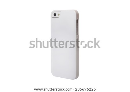 Case for smartphone. Isolated on white background - stock photo