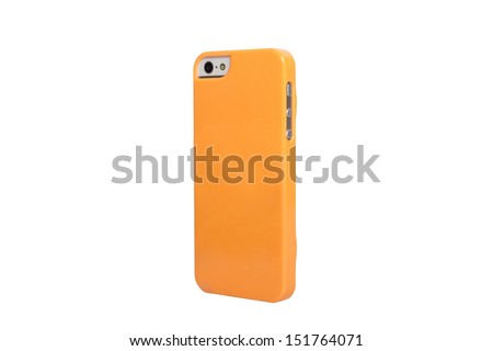 Case for smartphone on a white background - stock photo