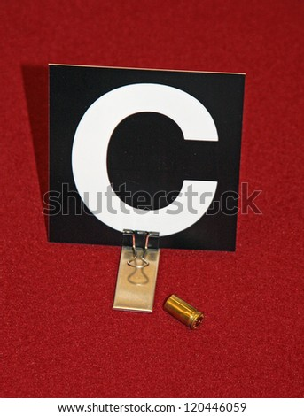 case of a gun with the science police identification card - stock photo