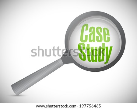 case study investigation illustration design over a white background - stock photo