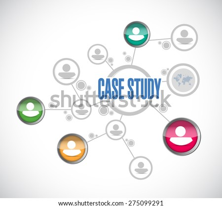 case study people diagram sign concept illustration design over white background - stock photo