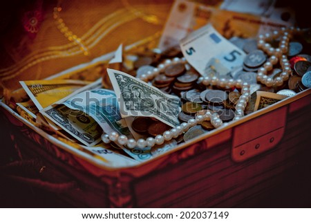 case with dollars money concept vector  - stock photo