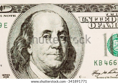 cash american dollars on a white background