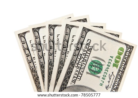 cash american dollars on a white background - stock photo