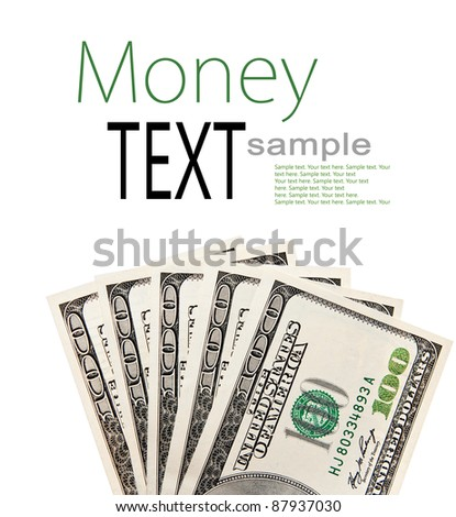 cash american dollars with place for your text - stock photo