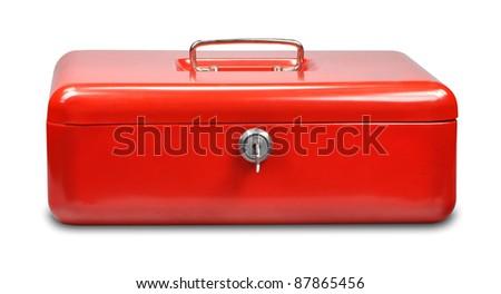 cash box on white background - stock photo
