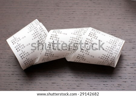 Cash check - stock photo