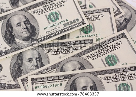 Cash dollar signs - stock photo