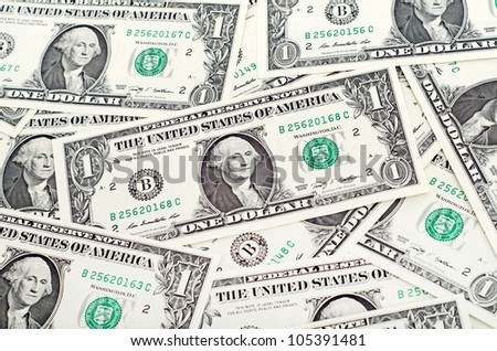 Cash dollar signs. Texture 1 american dollar - stock photo