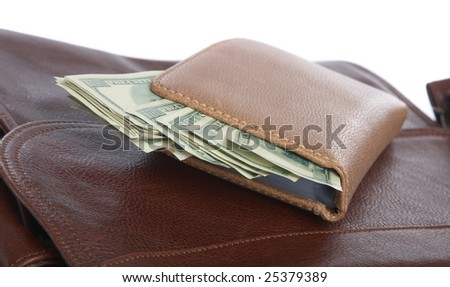 Cash dollars lying in the leather business portfolio