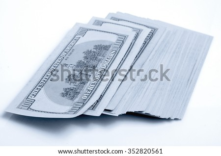 Cash dollars lying on the plane.