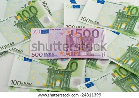 cash euro - stock photo
