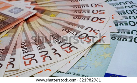 Cash, euro - stock photo