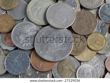 cash finansy.money.coins - stock photo