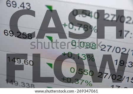 Cash flow - stock photo