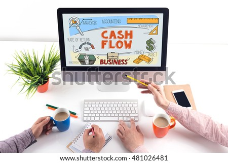 CASH FLOW concept on computer screen