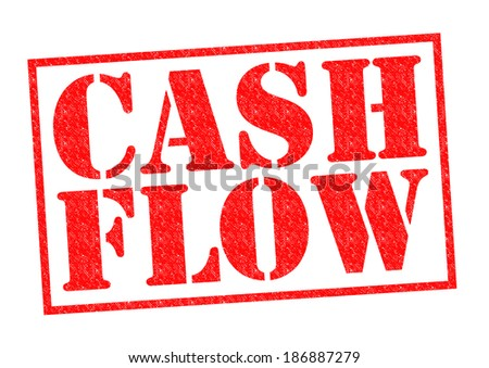 CASH FLOW red Rubber Stamp over a white background. - stock photo