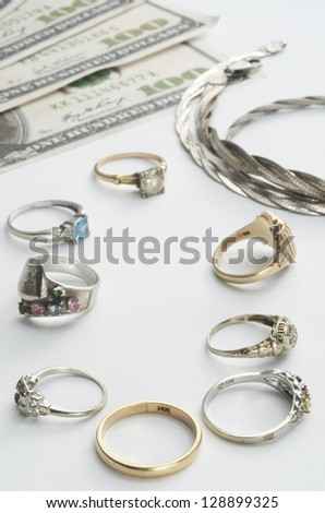 Cash For Gold - stock photo