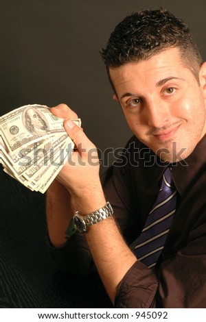 cash in hand model released close up - stock photo