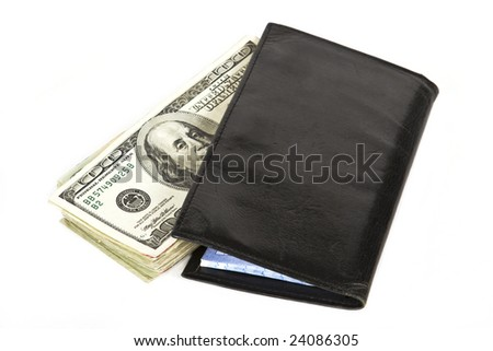 Cash in your checkbook is safer than in your bank isolated on a white background - stock photo