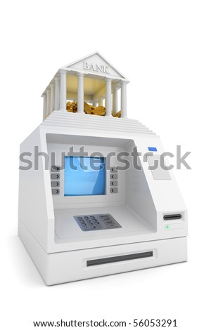 Cash machine - stock photo
