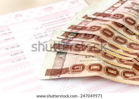 cash on bank account - stock photo